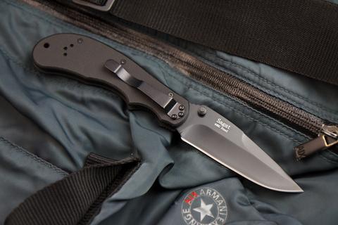Складной нож Sagat 440C Black Titanium