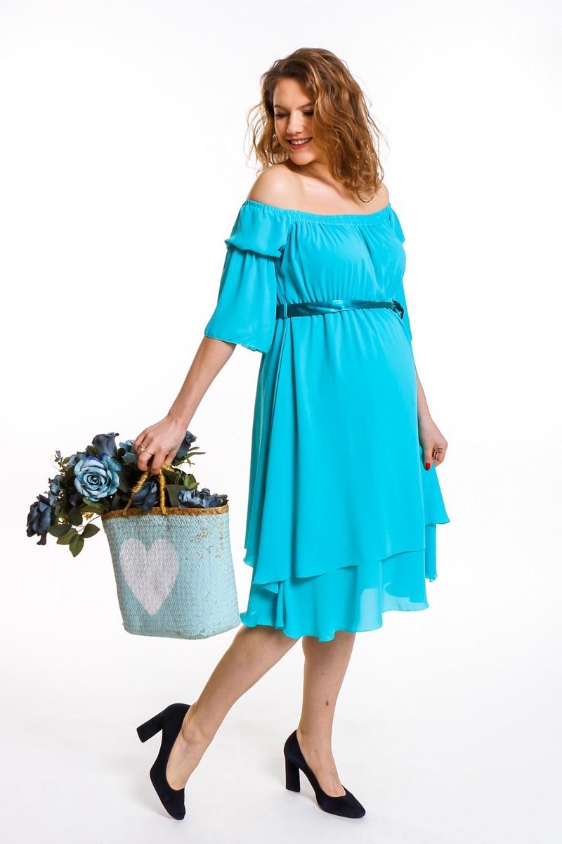 Платье 08671 зеленый