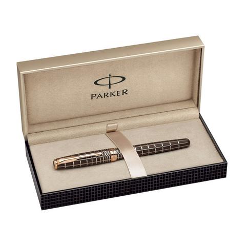 Parker Sonnet - Brown Rubber Lacquer PGT, перьевая ручка, F, BL