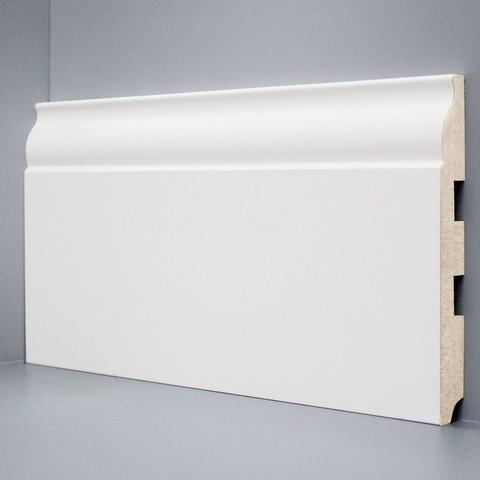 Белый ламинированный плинтус DEARTIO U103-150