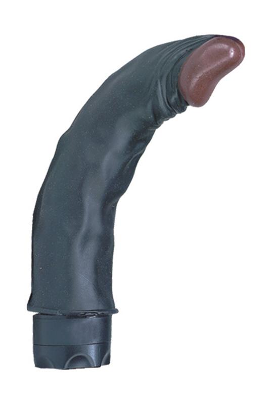 Реалистики: Чернокожий гнущийся вибратор WICKED WINSTON - 19 см.
