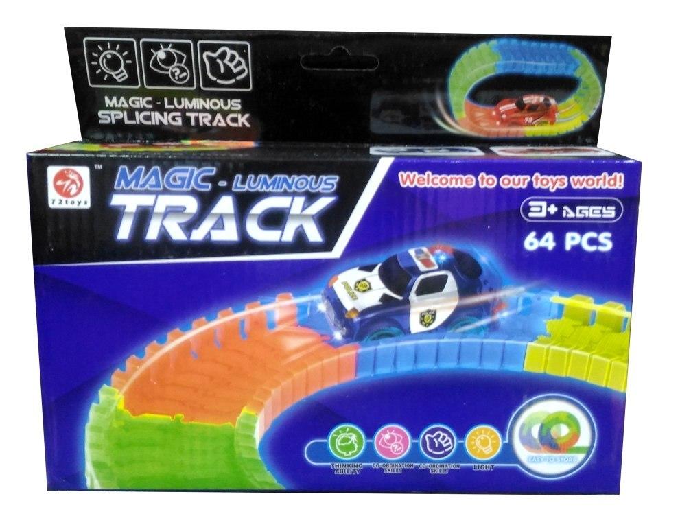 Автотрек-конструктор Magic tracks с полицейской машинкой 64 детали