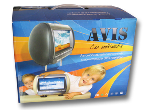 Подголовник с LCD монитором AVIS Electronics AVS0944BM (черный)