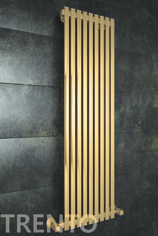 Trento Bronze - дизайн радиатор с прямоугольными вертикалями бронза