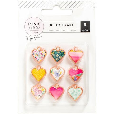 Набор шармов  - коллекция Oh My Heart- Pink Paislee - 9 шт.