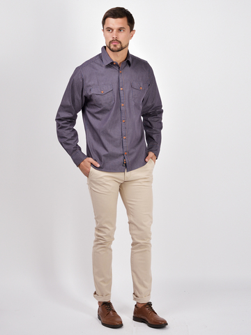Рубашки д/р муж.  M922-02G-15SR