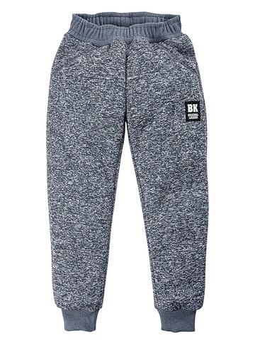 BK1155B-1 брюки для мальчиков утепленные, серые