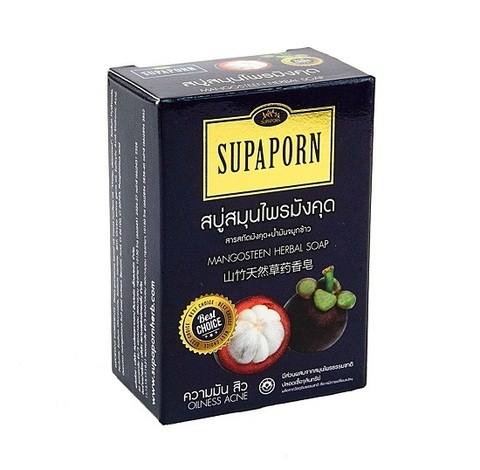 Натуральное мыло с мангостином, SUPAPORN, 100 гр
