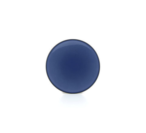 Фарфоровая тарелка Cirrus Blue 16 см, синяя, артикул 649493, серия Equinoxe