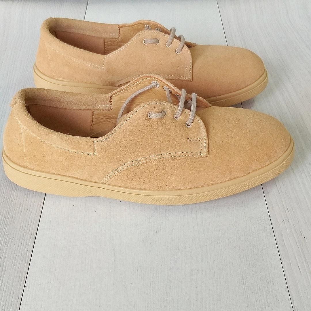 Замшевые эластичные туфли