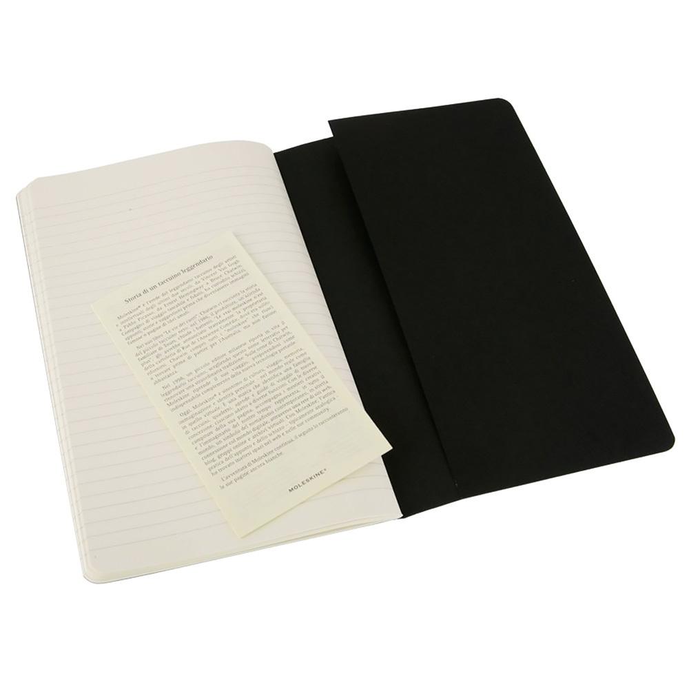 Набор 3 блокнота Moleskine Cahier Journal Large, цвет черный, в линейку