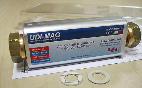 """Магнитный преобразователь воды UDI - MAG 1/2""""-1/2"""" г-г 18000 Гс, Арт. 10155240 (Италия) НАКЛАДНОЙ"""