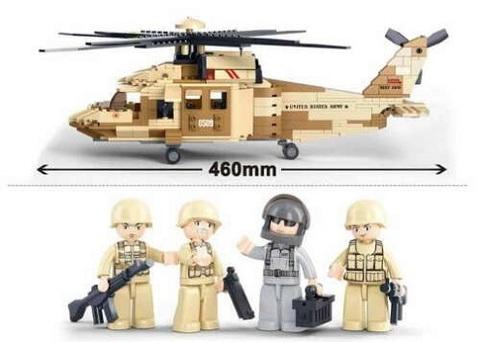 Конструктор серия Армия Вертолет Черный ястреб