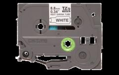 Термоусадочные ленты HSE-221 чёрный шрифт на белой основе, 8,8мм * 1,5м для Brother PTE300VP, PTE550WVP, PTP700, PTP750W, PTP900W