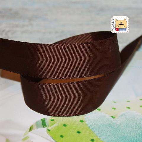 Лента репсовая 25мм (коричневый) ЛР25-05