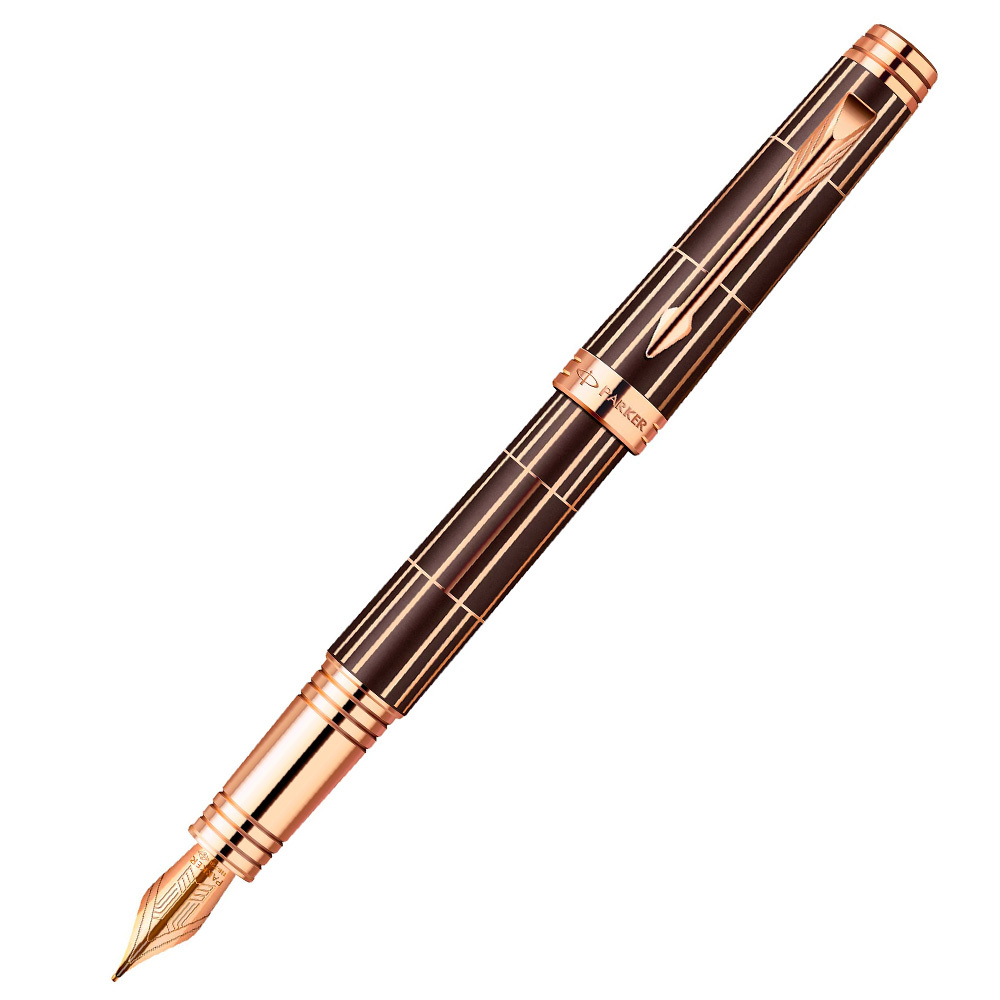 Parker Premier - Luxury Brown PGT, перьевая ручка, F, BL