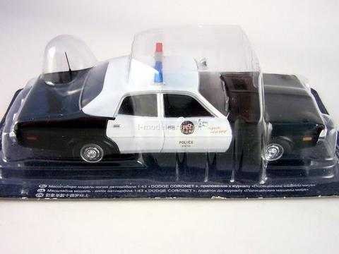 Dodge Coronet 1973 Los Angeles Police USA 1:43 DeAgostini World's Police Car #53