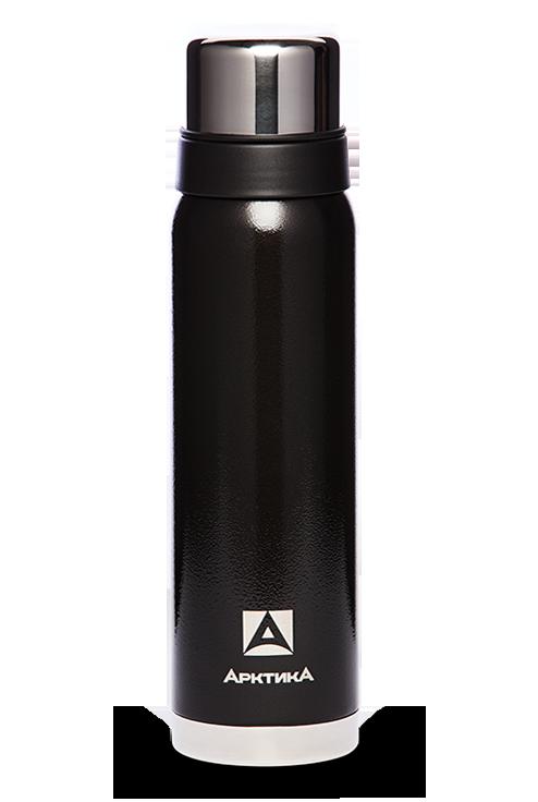 Термос Арктика (0,9 литра) с узким горлом американский дизайн, черный