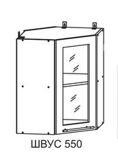 Кухня Империя ПУС 550*550 Шкаф верхний угловой стекло
