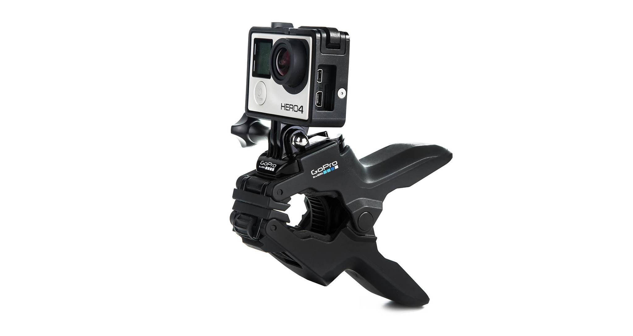 Крепление-прищепка GoPro ACMPM-001 Jaws: Flex Clamp с камерой