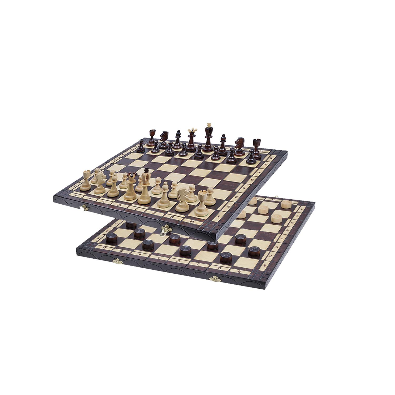Игровой набор шахматы и шашки 2в1 малые 165A пр-во Польша