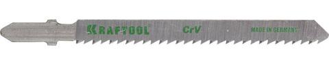 Полотна KRAFTOOL, T101B, для эл/лобзика, Cr-V, по дереву, ДСП, ДВП, чистый рез, EU-хвост., шаг 2,5мм, 75мм, 5шт