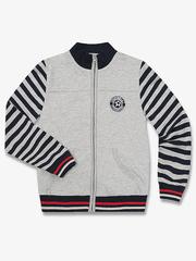 BAC004735 Пиджак для мальчиков, серый меланж/тем.синий
