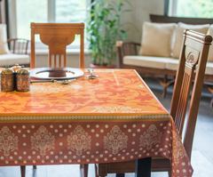 Скатерть 140x140 Blonder Home Orlando оранжевая