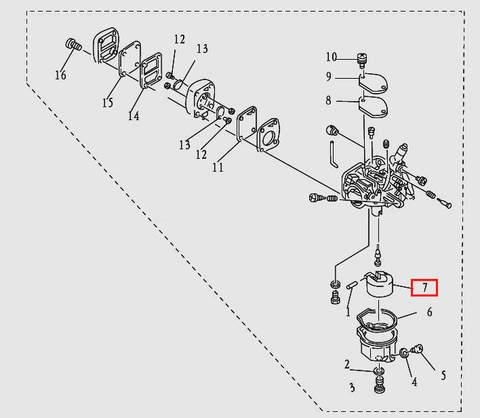 Поплавок для лодочного мотора T9.8 Sea-PRO (5-7)