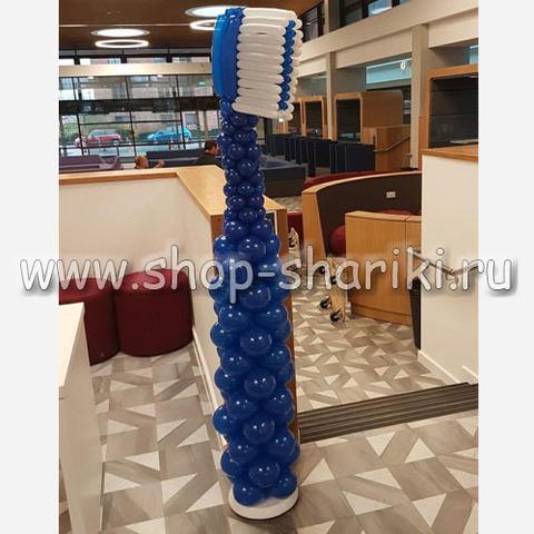 зубная щетка из шаров