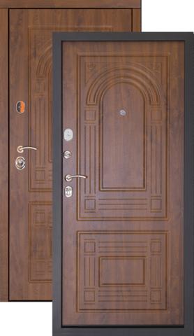 Тёплая дверь входная Дверной континент Флоренция, 2 замка, 1,5 мм  металл, золотой дуб