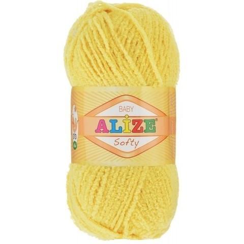 Пряжа Softy (187 желтый ), 115 м, 50 г