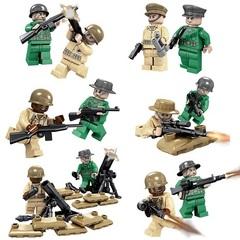 Минифигурки Военных Спецназ США Второй Мировой войны серия 165