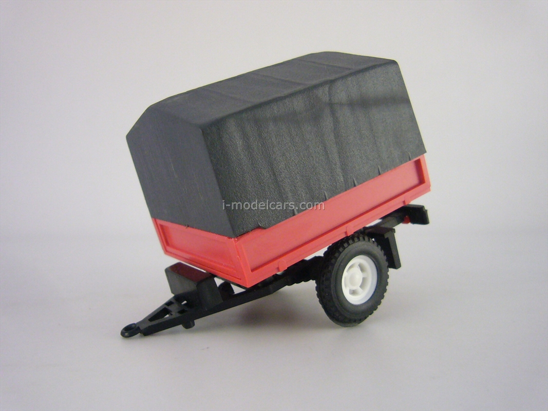 Trailer Bison board with awning red-gray Lada Niva 1:43 Agat Mossar Tantal