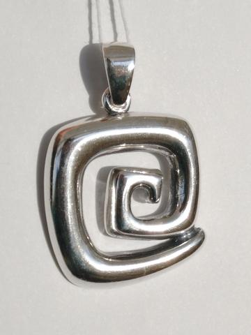Лабиринт (серебряный кулон)