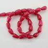 Бусина Жадеит (тониров), капля, цвет - малиновый, 12х8 мм, нить