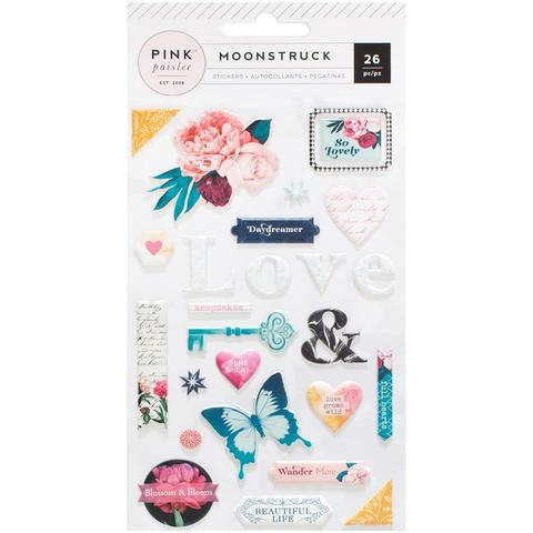 Объемные стикеры Moonstruck Puffy Stickers  - Pink Paislee