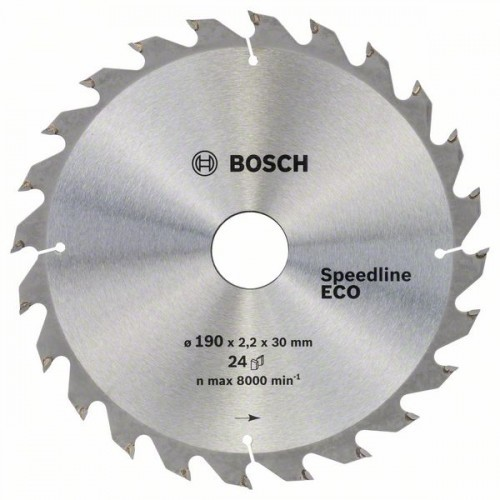 Диск по дереву Bosch 190х2,2х30/24 мм Speed line ECO Z24
