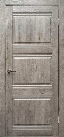 Дверь Эколайт Дорс Альфа, цвет дуб дымчатый, глухая