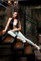 Женские лосины Nebbia Asymmetrical 7/8 leggings 639 Mint