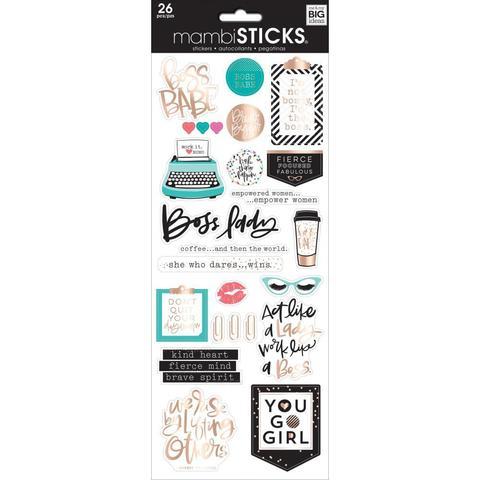 Стикеры ацетатные  mambi Specialty Stickers Boss Babe 13х30 см