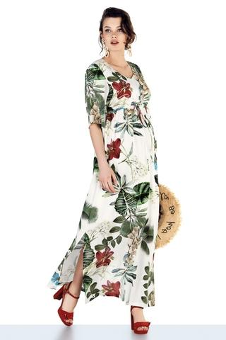 Платье для беременных 10273 тропический принт