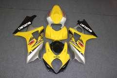 Комплект пластика для мотоцикла Suzuki GSX-R1000 07-08 Желто-Серый