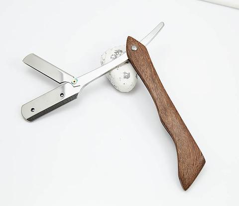 Бритва шаветка с деревянной ручкой