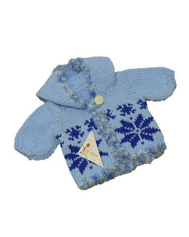 Вязаный удлиненный жакет с капюшоном - Голубой. Одежда для кукол, пупсов и мягких игрушек.