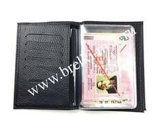 Обложка 2в1 для автодокументов и паспорта из натуральной кожи Флотер. Цвет Сиреневый