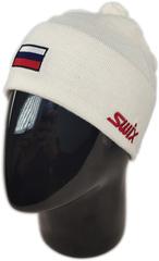 Шапка лыжная Swix Tradition белый с флагом России