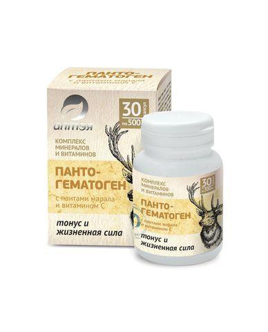 Пантогематоген с пантами марала и витамином С Тонус и жизненная сила фото1