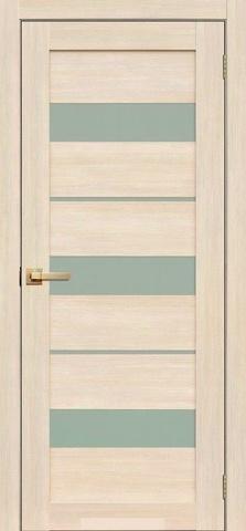 Дверь Fly Doors L-20, стекло матовое, цвет ясень 3D, остекленная