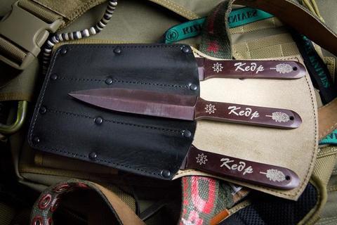 Метательный нож Кедр 30ХГСА набор из 3 ножей